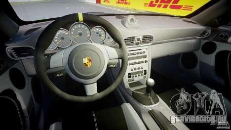 Porsche 997 GT3 RS для GTA 4 вид сзади