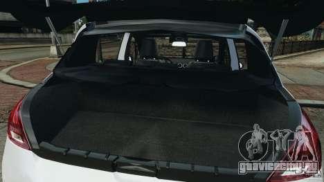 Peugeot 308 GTi 2011 Police v1.1 для GTA 4 салон