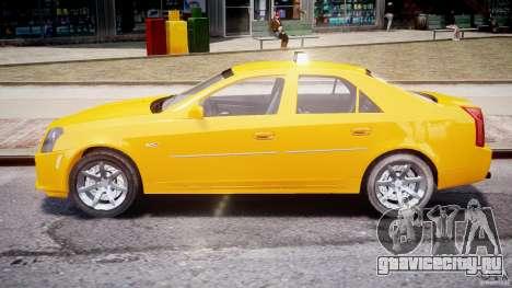 Cadillac CTS Taxi для GTA 4 вид изнутри