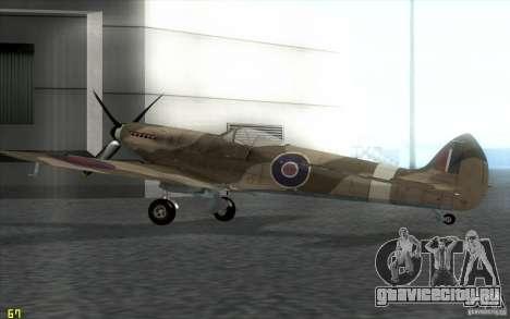 Spitfire для GTA San Andreas вид слева