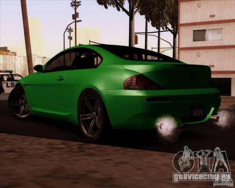 BMW M6 для GTA San Andreas вид изнутри