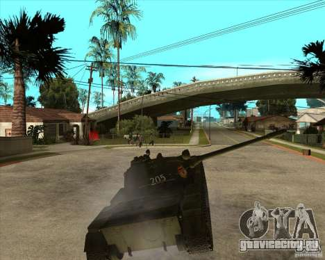 Т-55 для GTA San Andreas вид изнутри