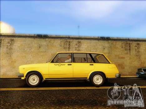 ВАЗ 2104 Такси для GTA San Andreas вид слева