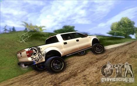 Ford F-150 Carryer Metal Mulisha для GTA San Andreas вид слева