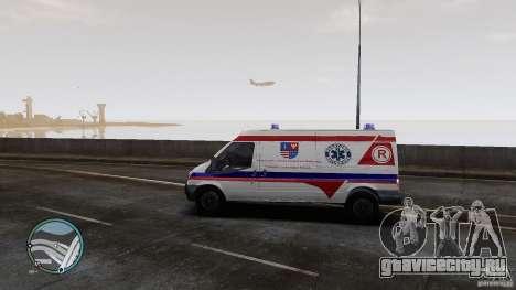 Ford Transit Ambulance для GTA 4 вид сзади слева