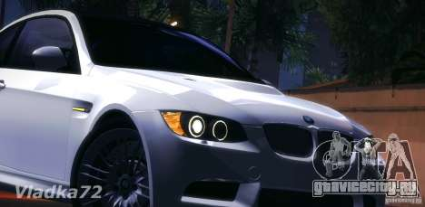 BMW E92 v2 Updated для GTA San Andreas вид изнутри