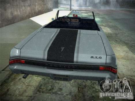 Pontiac GTO 1965 для GTA San Andreas вид сзади