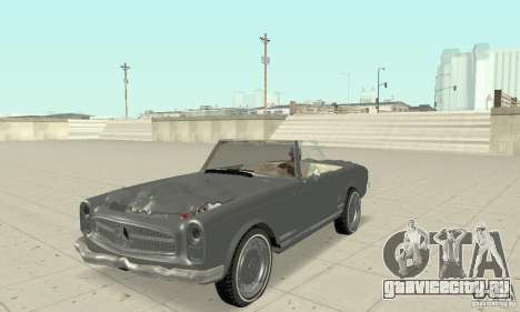 Mercedes-Benz 280SL (матовый) для GTA San Andreas вид сбоку