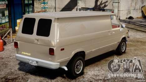 Chevrolet G20 Vans V1.1 для GTA 4 вид изнутри