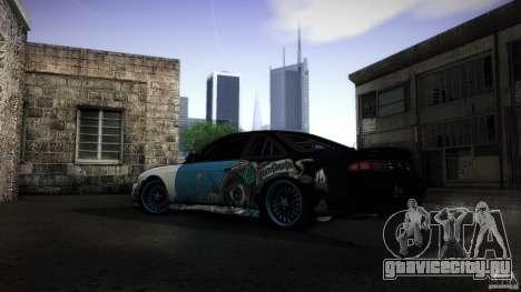 Nissan Silvia S14 NoNgrata для GTA San Andreas вид сзади слева