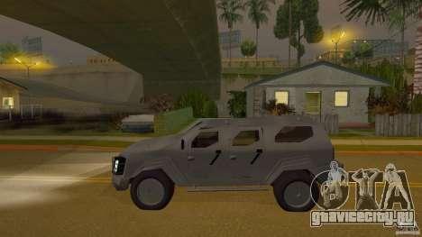 Gurkha LAPV для GTA San Andreas вид сзади слева