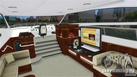 Luxury Yacht для GTA 4 вид слева