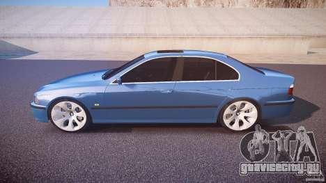 BMW 530I E39 e63 white wheels для GTA 4 вид слева