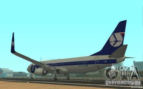 Boeing 737 LOT Polish Airlines для GTA San Andreas вид сзади слева