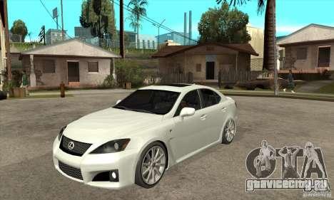 Lexus IS F 2009 для GTA San Andreas вид слева