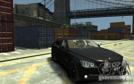 BMW ActiveHybrid 7 2010 для GTA 4 вид сзади