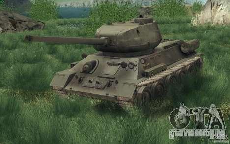 Т-34-85 из игры COD World at War для GTA San Andreas вид справа
