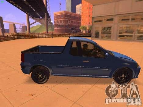Nissan NP200 для GTA San Andreas вид сзади слева