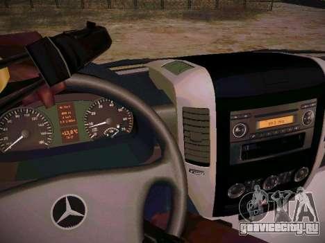 Mercedes Benz Sprinter Ambulance для GTA San Andreas вид изнутри