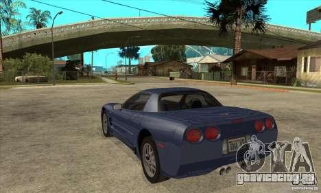 Chevrolet Corvette 5 для GTA San Andreas двигатель
