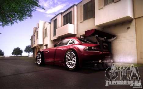 BMW Z4 E89 GT3 2010 для GTA San Andreas вид сбоку