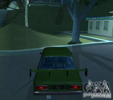 Ваз 2107 Стритрейсер для GTA San Andreas вид справа