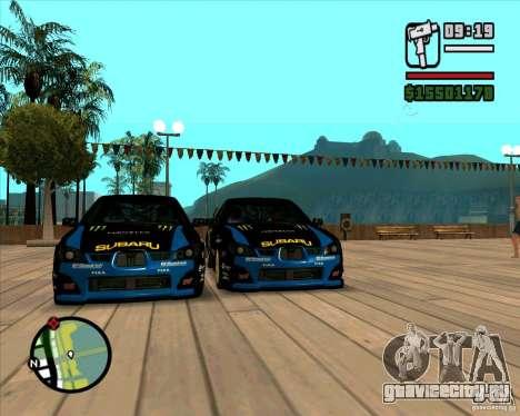 Subaru Impreza WRC STI 2007 Ken Block для GTA San Andreas вид слева