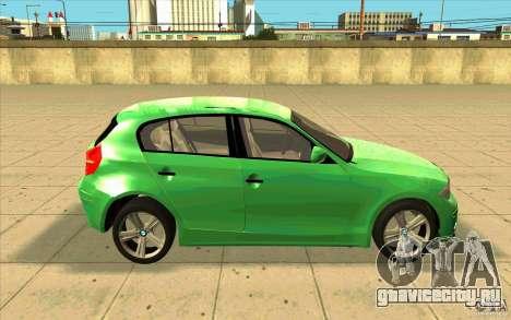BMW 118i для GTA San Andreas вид изнутри