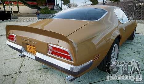 Pontiac Firebird 1970 для GTA 4 вид сзади слева