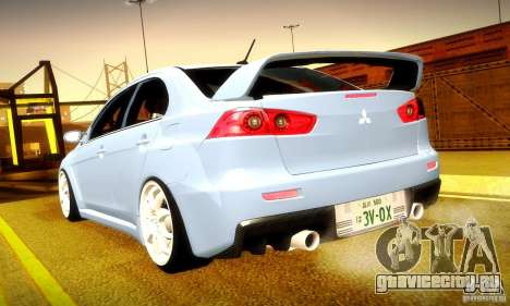 Mitsubishi Lancer Evolution X для GTA San Andreas салон