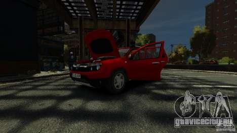 Dacia Duster SUV 4x4 2010 для GTA 4 вид снизу