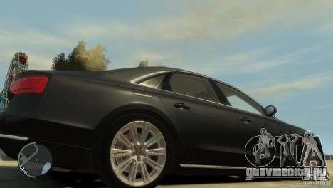 Audi A8 V8 FSI для GTA 4 вид сверху