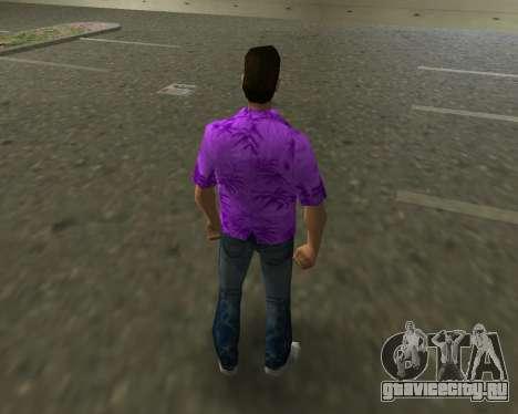 Фиолетовая рубашка для GTA Vice City третий скриншот