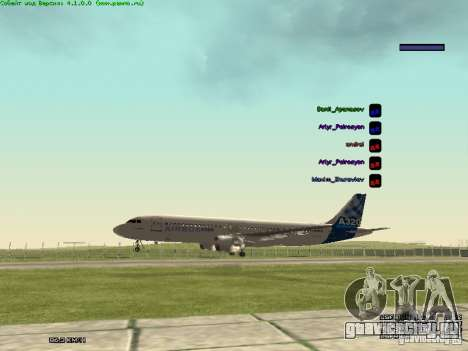 Airbus A320-300 для GTA San Andreas вид справа