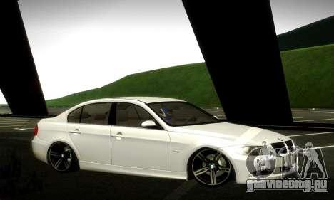 BMW 330 E90 для GTA San Andreas вид сбоку