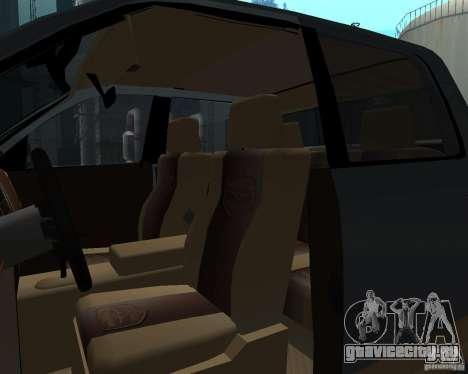 Dodge Ram Hemi для GTA San Andreas вид изнутри
