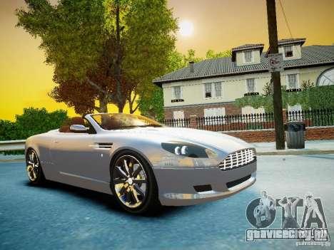 Aston Martin DB9 Volante v2.0 для GTA 4 вид сзади