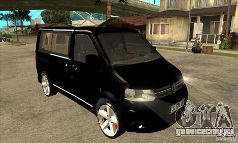 Volkswagen Caravelle 2011 SWB для GTA San Andreas вид сзади