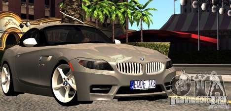 BMW Z4 Stock 2010 для GTA San Andreas