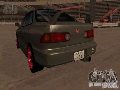 Honda Integra TypeR для GTA San Andreas вид сзади