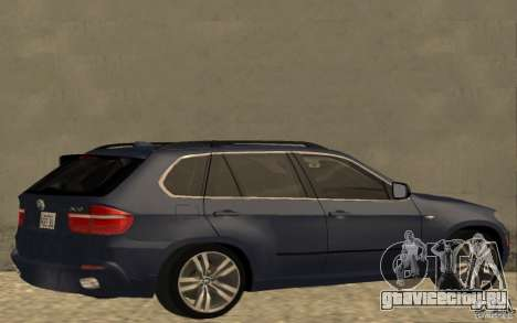 BMW X5 M 2009 для GTA San Andreas вид сзади слева