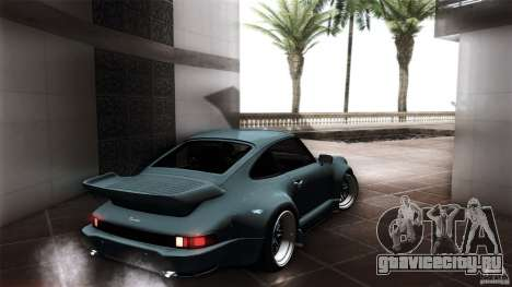 Porsche 911 Turbo RWB DS для GTA San Andreas вид сзади слева