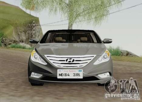 Hyundai Sonata 2012 для GTA San Andreas вид сзади слева