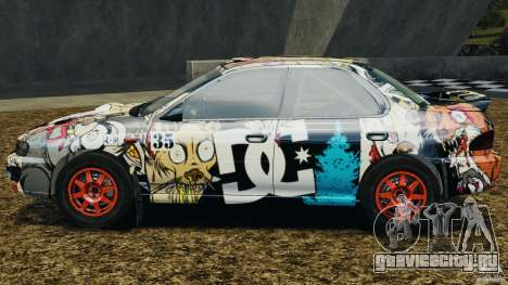 Subaru Impreza WRX STI 1995 Rally version для GTA 4 вид слева
