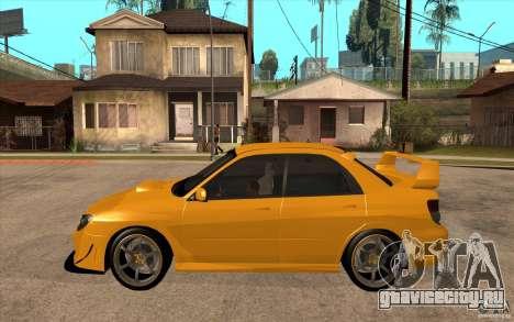 Subaru Impreza 2006 WRX STI для GTA San Andreas вид слева