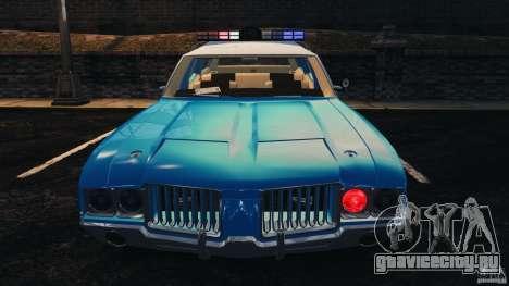 Oldsmobile Vista Cruiser 1972 Police v1.0 [ELS] для GTA 4 двигатель