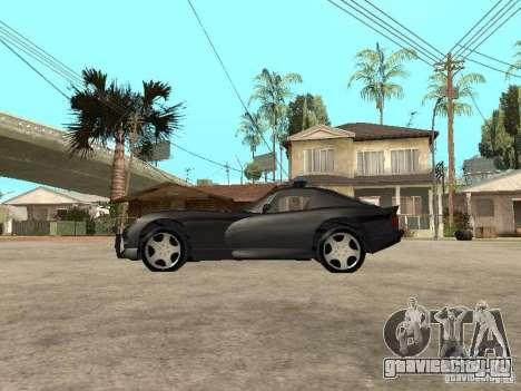 Dodge Viper Police для GTA San Andreas вид слева
