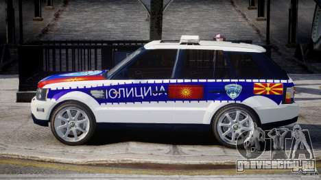 Range Rover Macedonian Police [ELS] для GTA 4 вид слева