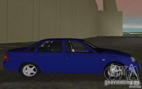 Lada 2170 Priora для GTA Vice City вид справа