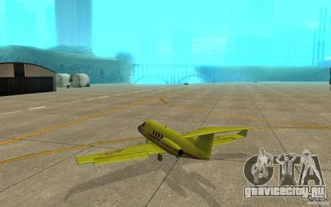 Shamal 1.0 Final для GTA San Andreas вид справа